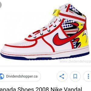 🇨🇦RARE Nike 2008 Canada Air Vandals (6Y) GUC